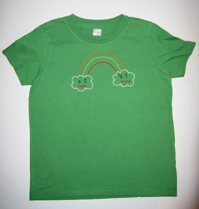d99886899a Green rainbow shirt